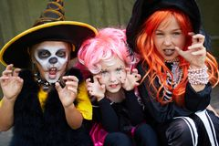 Halloween fright Stock Images