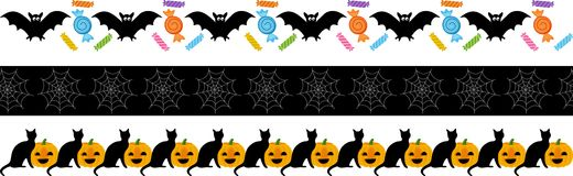Halloween Fright Ribbon Stock Photo