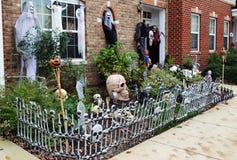 Halloween front door decorations Stock Photography