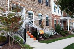 Halloween front door decorations Stock Images
