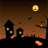 Halloween Full Moon Background Royalty Free Stock Photo