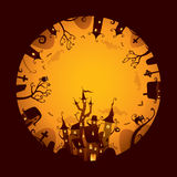 Halloween full moon design Royalty Free Stock Images