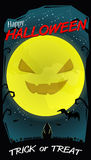 Halloween full moon. And landscape background Royalty Free Stock Photo