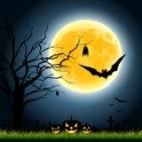 Halloween full moon party Stock Photo