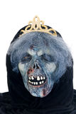 Halloween, fun and creepy. Queen of the death with crown on white background Royalty Free Stock Image
