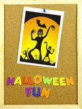Halloween Fun phrase on a corkboard Stock Photo
