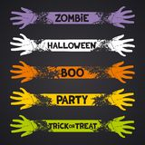 Halloween fun ribbons Royalty Free Stock Image