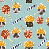 Halloween fun and spooky pattern Royalty Free Stock Image