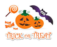 Halloween fun: trick or treat Royalty Free Stock Photo