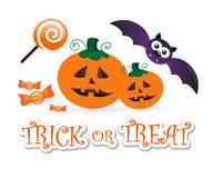 Halloween fun: trick or treat stock illustration