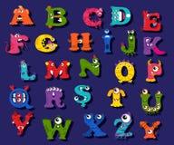 Halloween funny alphabet for children vector Stock Images