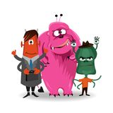 Halloween  funny cartoon monster set. Vector illustration Stock Images