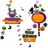 Halloween funny design elements set Stock Photo