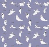 Halloween funny ghost seamless pattern. Vector stock illustration