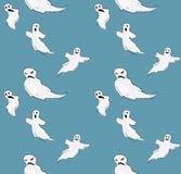 Halloween funny ghost seamless pattern. Vector vector illustration