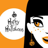 Halloween funny girl Stock Images