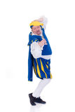 Halloween, funny prince. Halloween funny prince singing and dancing on white background Royalty Free Stock Photos