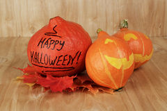 Halloween funny pumpkins Royalty Free Stock Images