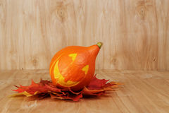 Free Halloween Funny Striped Pumpkin Stock Image - 33946781