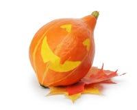 Halloween funny striped pumpkin Royalty Free Stock Photo