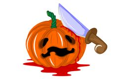 Halloween-furchtsamer Kürbis Lizenzfreie Stockfotos