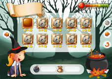 Halloween game. With elements and icons stock illustration