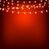 Halloween garlands light Stock Images