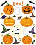 Halloween garneringar Arkivbild