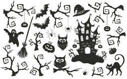 Halloween-Gegenstände eingestellt Stockbild