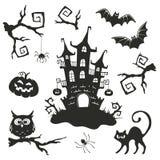 Halloween-Gegenstände eingestellt Lizenzfreies Stockfoto