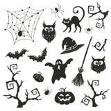 Halloween-Gegenstände eingestellt Stockfotos