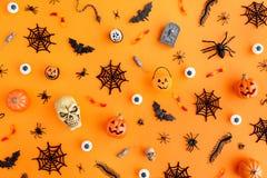 Halloween-Gegenstandhintergrund stockfoto