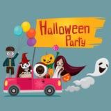 Halloween-Geist auf Aufnahme Lizenzfreies Stockbild