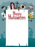 Halloween-Geist auf Rahmen Stockbild