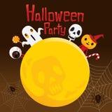Halloween-Geist auf Vollmond Lizenzfreie Stockfotografie