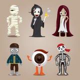 Halloween-Geist-Charakter-Design-Satz Lizenzfreies Stockbild