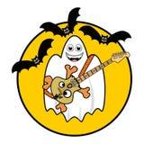 Halloween-Geist, der Gitarre spielt Lizenzfreies Stockbild