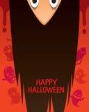 Halloween-Geist mit umgedrehtem Kopf und dem langen Haar Lizenzfreie Stockfotos