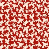 Halloween-Geist-nahtloser Muster-Rot-Hintergrund Lizenzfreies Stockbild