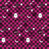 Halloween-Geist-Schläger-Kürbis-nahtloses Muster Backg Stockbild
