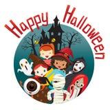 Halloween-Geist-und -kinderlächeln Stockfotografie