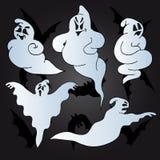 Halloween-Geistansammlung Stockbild