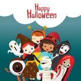 Halloween-Geister und -kinder Lizenzfreies Stockbild