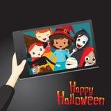 Halloween-Geister und Kinder Selfie Stockfotografie