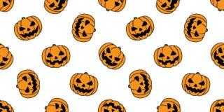 Halloween-Geistkarikatur-Illustrationsschal Muster des Kürbises lokalisierte nahtloser Wiederholungstapeten-Fliesenhintergrund Lizenzfreie Stockbilder