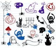 Halloween-Gekritzel Lizenzfreies Stockfoto