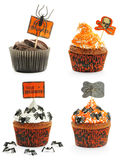 Halloween-geplaatste cakes Stock Fotografie