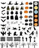 Halloween-Geplaatste Elementen Royalty-vrije Stock Foto