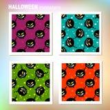 Halloween-geplaatste monsters Royalty-vrije Stock Afbeelding