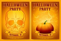 Halloween-Geplaatste Partijachtergronden Royalty-vrije Stock Fotografie